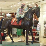 Jockeys and Horses at Airport Shops