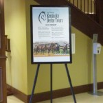 Kentucky Derby Tours schedule in lobby