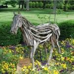 Spindletop Hall garden horse