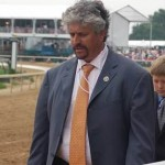 Trainer Steve Asmussen passing our boxes