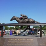 Barbaro statue in front of Kentucky Derby Museum