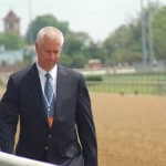 Trainer Todd Pletcher passing our box