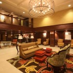 Lobby at the Crowne Plaza Hotel