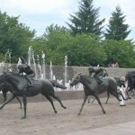 Thououghbred Park horse bronzes