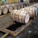 4 Roses Bourbon barrel dumping