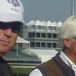 Bob Baffert and Mike Pegram backside