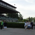Keeneland Race Course stands in the morning