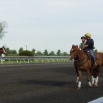 Walking the track at Keeneland