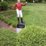 Calumet Farm lawn jockey