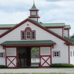 A barn at Calumet Farm