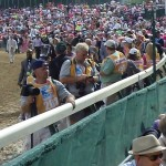 Oaks horses going to the paddock