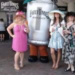 Mint Julep mascot catches the girls