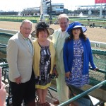 On the rail at Churchill Downs