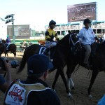 We Miss Artie with Javier Castellano aboard in Derby post parade