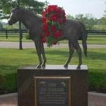 Triple Crown winner Affirmed statue