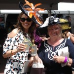 Allison (left) with a $1000 Mint Julep at Churchill Downs (a benefit for horse rescue)