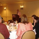 Turfwriter Billy Reed speaks to group