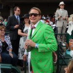 Fashion expert Carson Kressley in the box next to us