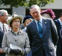 Keeneland's Ted Bassett with Queen Elizabeth