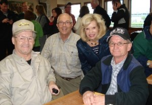Jockeys Ron Turcotte and Pat Day with Derby Tours members at our backside breakfast