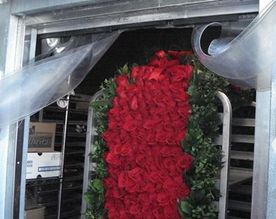American Pharoah's 2015 Garland of roses in freezer at Kentucky Derby Musuem