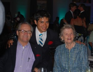 Ron Turcotte, Mario Gutierrez and Penny Chenery at the 2012 Kentucky Derby